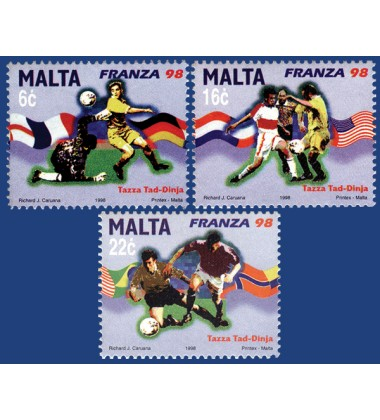 MALTA STAMPS WORLD CUP - FRANCE 1998