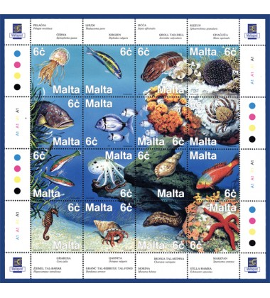 MALTA STAMPS FAUNA OF THE MEDITERRANEAN