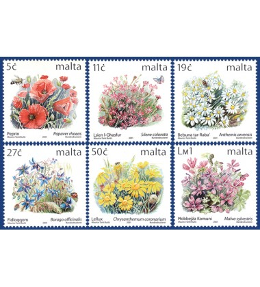 MALTA STAMPS DEFINITIVE FLOWERS III