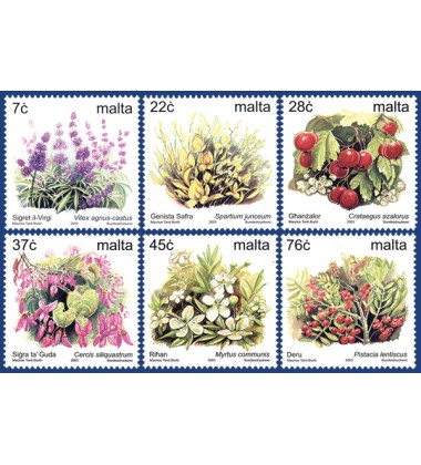MALTA STAMPS DEFINITIVE FLOWERS IV