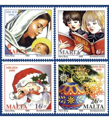 MALTA STAMPS CHRISTMAS 1999