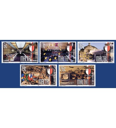 MALTA STAMPS ANNIVERSARY OF THE REPUBLIC OF MALTA