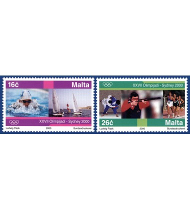 MALTA STAMPS OLYMPIC GAMES - SYDNEY 2000