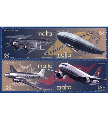 MALTA STAMPS AIR TRANSPORT