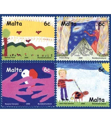 MALTA STAMPS CHILDREN'S DESIGN