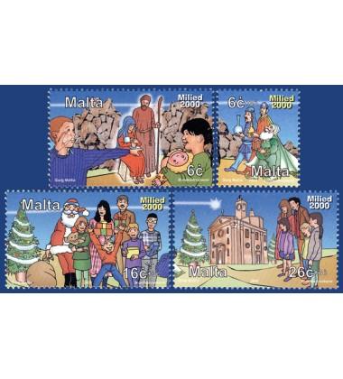 MALTA STAMPS CHRISTMAS 2000