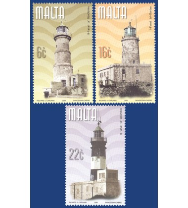 MALTA STAMPS LIGHTHOUSES