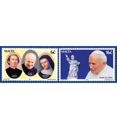 MALTA STAMPS POPE'S VISIT