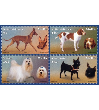 MALTA STAMPS DOGS OF MALTA