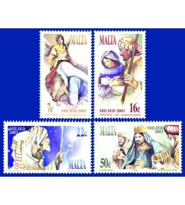 MALTA STAMPS CHRISTMAS 2003