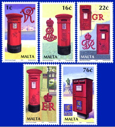 MALTA STAMPS LETTER BOXES
