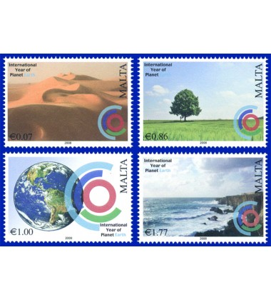 MALTA STAMPS YEAR OF PLANET EARTH