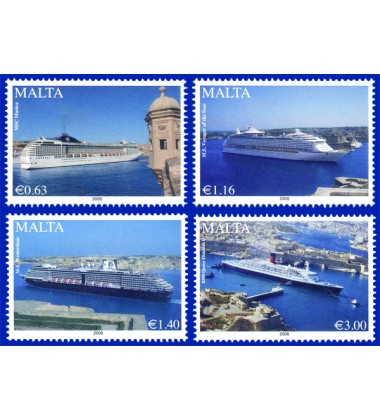 MALTA STAMPS MARITIME - CRUISE LINERS