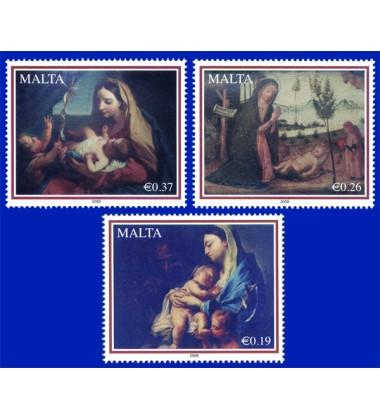 MALTA STAMPS CHRISTMAS 2008