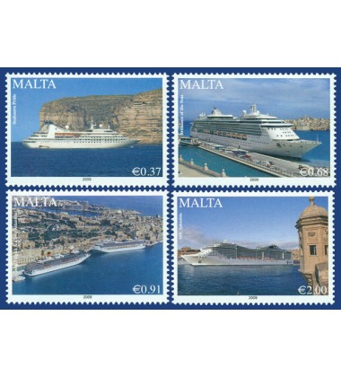 MALTA STAMPS MARITIME CRUISE LINERS - 2009