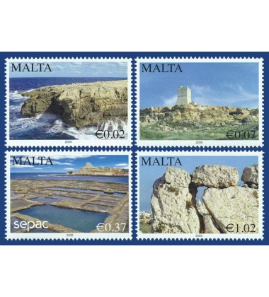 MALTA STAMPS SCENERY- 2009