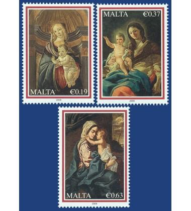 MALTA STAMPS CHRISTMAS 2009