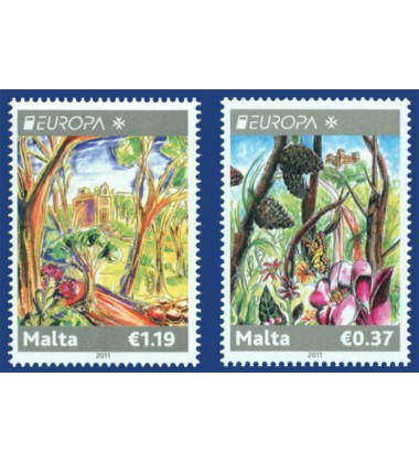 MALTA STAMPS EUROPA 2011 - FORESTS
