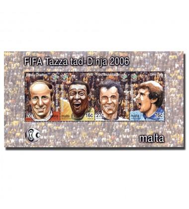MALTA MINIATURE SHEET WORLD CUP - GERMANY 2006