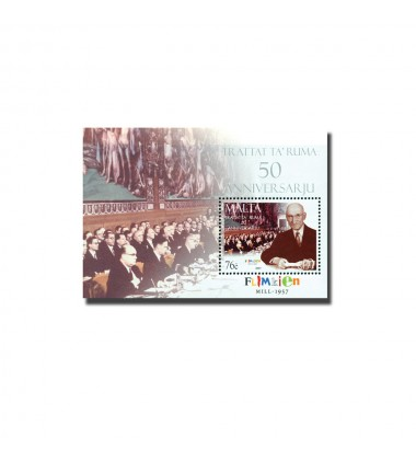 MALTA MINIATURE SHEET 50TH ANNIVERSARY TREATY OF ROME