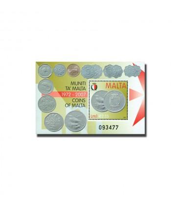 MALTA MINIATURE SHEET COINS OF MALTA 1972 - 2007