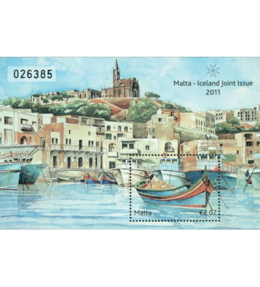 MALTA MINIATURE SHEET MALTA - ICELAND JOINT ISSUE