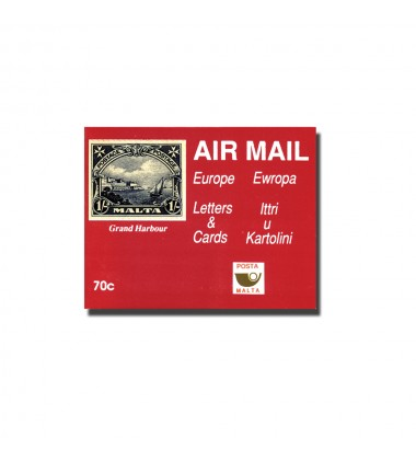 Red Cover - Air Mail Rate (Europe) 1 pane (5) of 14c