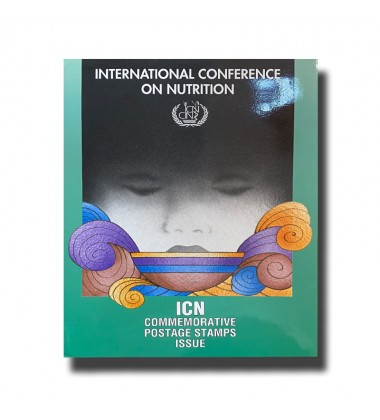 1992 International Conference of Nutrition Stamps Folder Presentation Pack