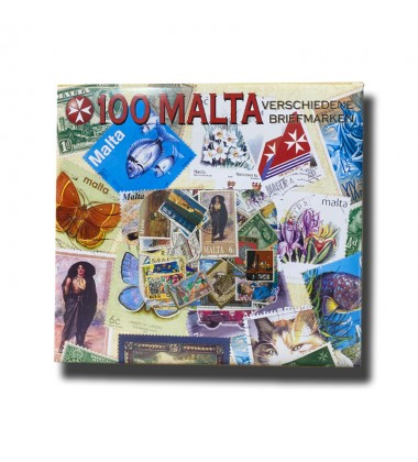 100 Malta Different Stamps