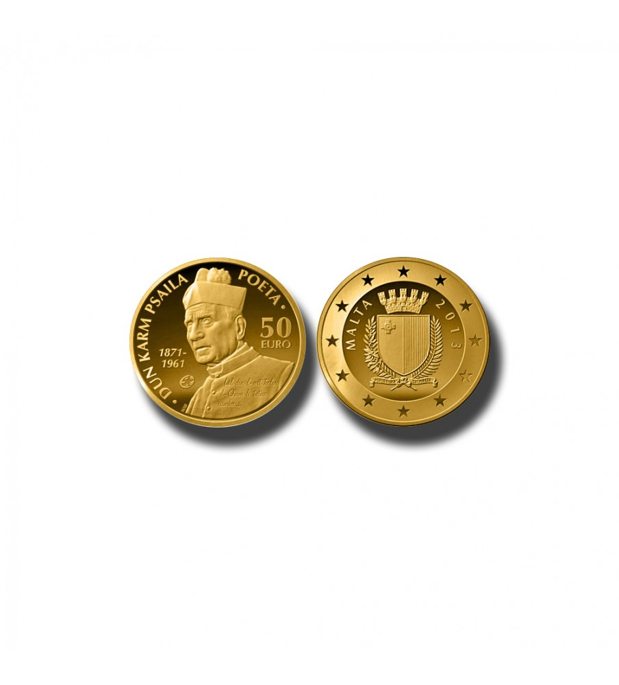 2013 MALTA - €50 DUN KARM PSAILA COMMEMORATIVE GOLD COIN PROOF GOLD