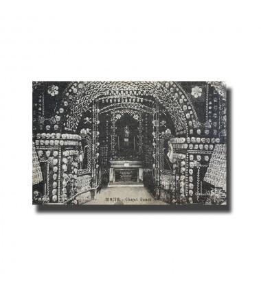 Malta Postcard- Chapel Bones, New Unused