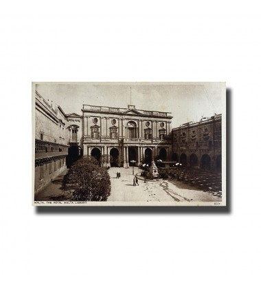 Malta Postcard - The Royal Library, New Unused, Made in England