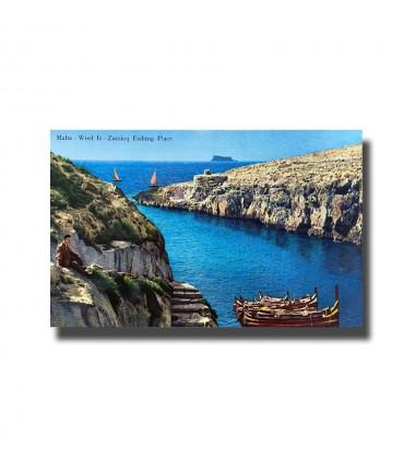 Malta Postcard - Wied iz-Zurrieq Fishing Place, Alf.Galea Zammit & Co., Made in Italy