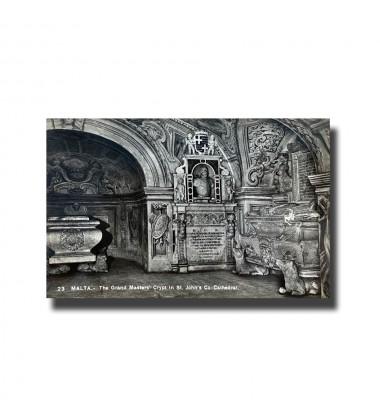 Malta Postcard - The Grand Masters' Crypt , Real Photo, New Unused