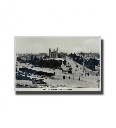 Malta Postcard - General View Floriana, New Unused