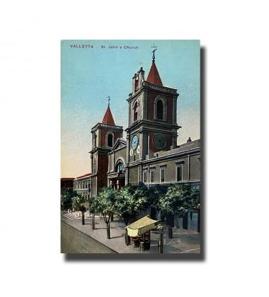 Malta Postcard - St. John's Church, New Unused